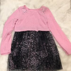 Justice Pink Sparkly Dress Size 14!💕
